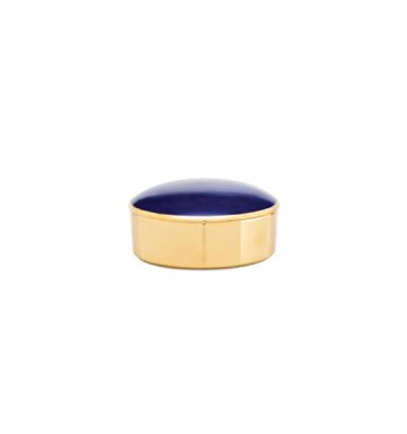 Porcel | Blue High Fire Round Box Libra - Porcelain Bombonier, Decorative Accessories | Buy Online | Orpheu Decor