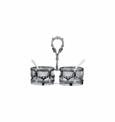 Topázio | Bambolina Salt/ Pepper Cellars Silver Plated - Silver Tableware & Luxury Dinnerware Sets | Buy Online | Orpheu Decor