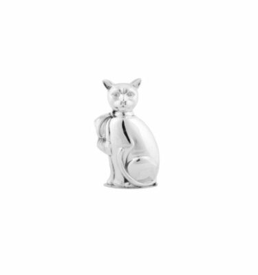 Topázio | Cat Sugar Bowl Silver Plated - Silver Tableware & Luxury Dinnerware Sets | Buy Online | Orpheu Decor