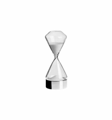 Topázio   Hourglass Glossy Silverplated - Luxury Desk Accessories & Gifts   Buy Online   Orpheu Decor