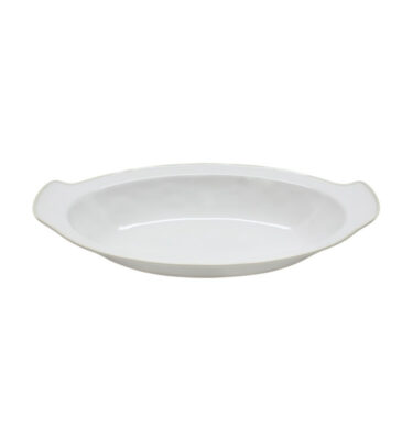 astoria 41 cm oval gratin white costa nova