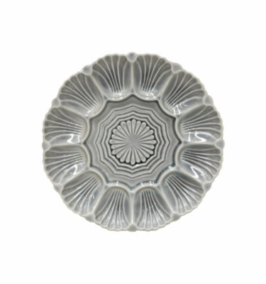 Costa Nova | Cristal Appetiser Plate, Crackled Grey - 2 Units - Fine Stoneware | Buy Online | Orpheu Decor