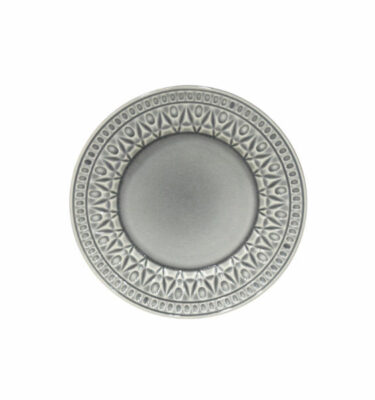 Costa Nova | Cristal Salad/Dessert Plate Crackled Grey 6 Units - Fine Stoneware | Buy Online | Orpheu Decor