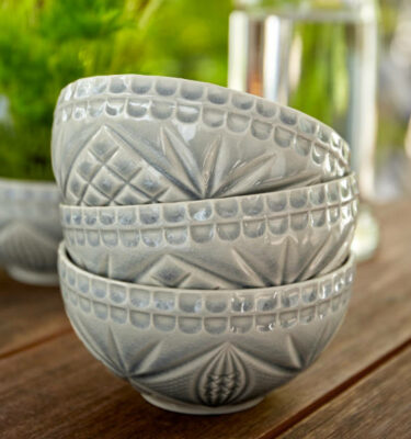 Costa Nova | Cristal Soup, Cereal & Fruit Bowl 12,6 cm Crackled Grey 6 Units - Fine Stoneware | Buy Online | Orpheu Decor