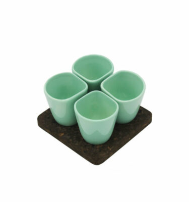 Dedal | 1.0 Coffee Cups Aqua Marine - Mini Dessert Copus - Designer Tableware | Buy Online | Orpheu Decor