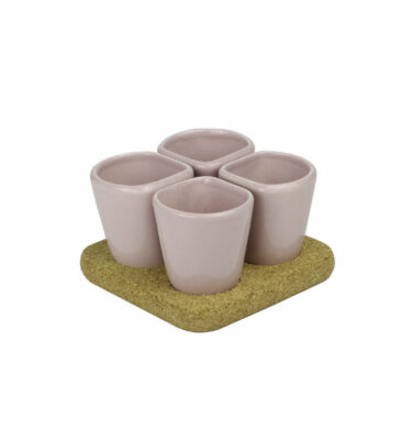 Dedal - 1.0 Mini Coffee Dessert Cups - Pink - Modern Tableware - Orpheu Decor