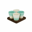Dedal | 3.0 Coffee Cups, Aqua Marine - Mini Dessert Copus - Designer Tableware | Buy Online | Orpheu Decor