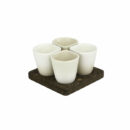 Dedal - 3.0 Mini Coffee/Dessert Cups - Beige Mat Designer Tableware - Orpheu Decor
