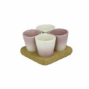 Dedal - 3.0 Mini Coffee/Dessert Cups: Pink Designer Tableware - Orpheu Decor