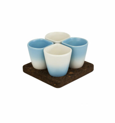 Dedal - 3.0 Mini Coffee/Dessert Cups, Sky Blue Matt - Orpheu Decor