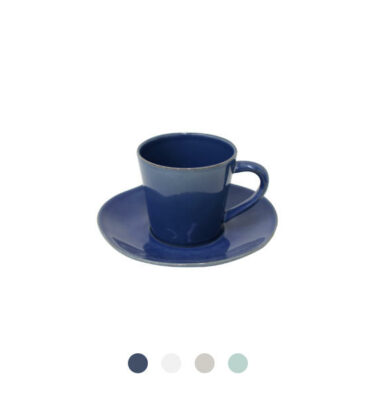 Costa Nova | Nova Teacup & Saucer 6 sets - Fine Stoneware | Buy Online | Orpheu Decor