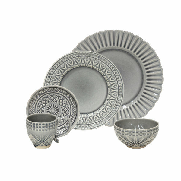 Costa Nova | Cristal Dinnerware Set 30 Pieces - Fine Stoneware | Buy Online | Orpheu Decor