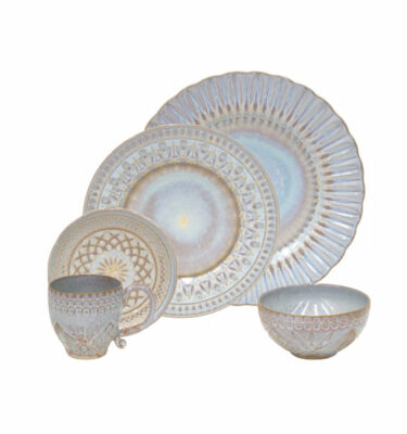 Costa Nova | Cristal Nacar Dinnerware Set 30 Pieces - Fine Stoneware | Buy Online | Orpheu Decor