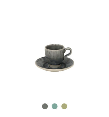 Costa Nova | Madeira Coffee Cup & Saucer, 6 Sets - Fine Stoneware | Buy Online | Orpheu Decor