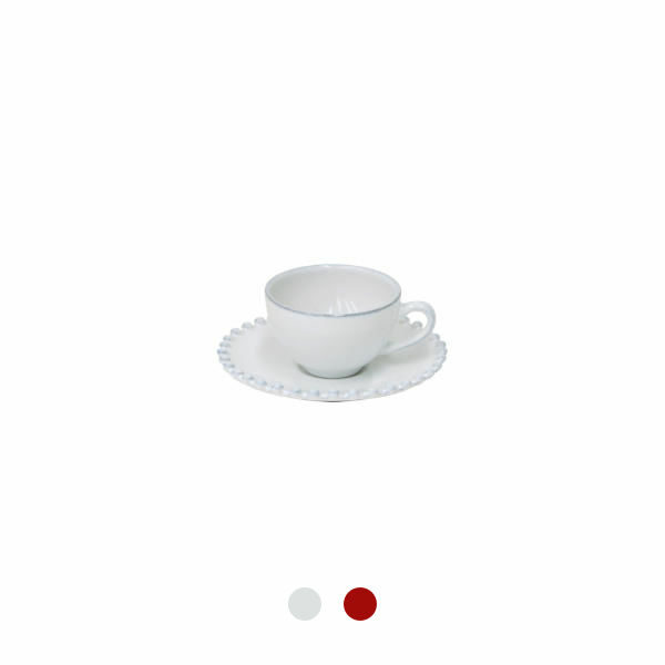 Costa Nova | Pearl Coffee Cup & Saucer 6 Sets - Fine Stoneware | Buy Online | Orpheu Decor