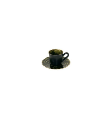 Costa Nova | Riviera Coffee Cup & Saucer, Dark Green – 6 Sets - Fine Stoneware | Buy Online | Orpheu Decor