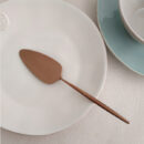 Cutipol | Moon Cake Server, Matte Copper | Buy Online | Orpheu Decor