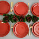 Costa Nova | Pearl Dinnerware Set Red - Fine Stoneware | Buy Online | Orpheu Decor