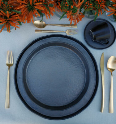 Costa Nova | Lagoa Dinnerware Set Metal | Orpheu Decor