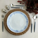 Costa Nova & Cutipol | Brisa Dinnerware & Goa Matte, Blue Handle | Buy Online | Portugal | Orpheu Decor