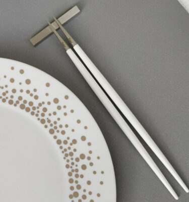 Cutipol | Goa Chopsticks Set, Matte White Handle | Buy Online | Orpheu Decor