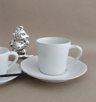 Costa Nova | Nova Teacup & Saucer, White | Buy Online | Portugal | Orpheu Decor