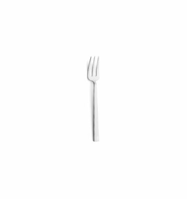 Cutipol - Bauhaus Pastry Fork: Polished Steel - Orpheu Decor