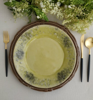 Costa Nova | Madeira Dinner Plate, Lemon Green | Buy Online | Portugal | Orpheu Decor