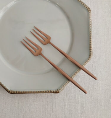 Cutipol | Moon Pastry Fork, Matte Copper | Buy Online | Orpheu Decor