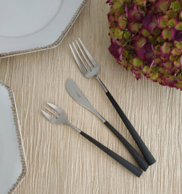 Cutipol | Noor, Matte - Oyster Fork, Butter Knife, Fish Fork - Buy Online | Orpheu Decor