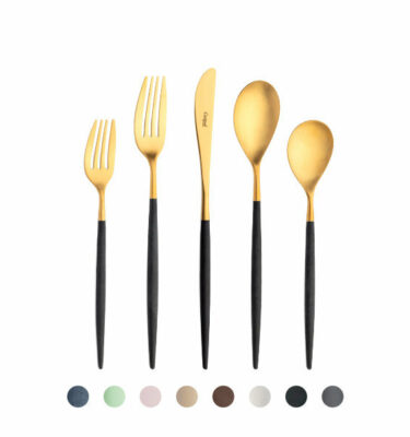 Mio Cutlery Set Matte Gold, 5-130 Pieces by Cutipol? Buy at Orpheu Decor!