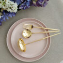 Cutipol | Moon Gold - Soup Ladle, Serving Spoon, Carving Knife - Buy Online | Orpheu Decor