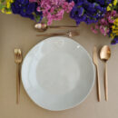 Costa Nova & Cutipol | Nova Dinner Plate Grey & Solo, Matte Copper - buy Online | Orpheu Decor