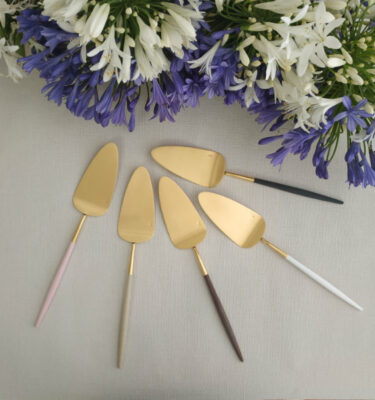Cutipol | Goa Cake Server, Matte Gold - Buy Online | Orpheu Decor