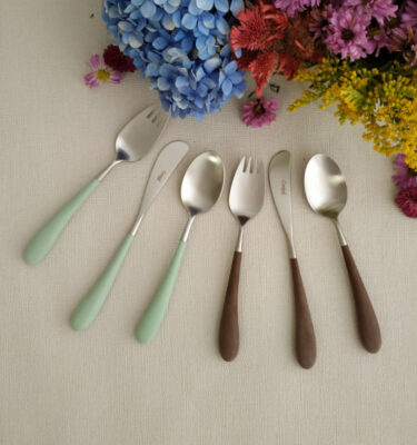 Buy Cutipol Alice Matte, Celadon & Brown Handle - Orpheu Decor