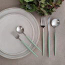 Buy Cutipol Goa Matte, Celadon Handle - Dinner Fork, knife, Table Spoon, Dessert Fork, Spoon - Orpheu Decor
