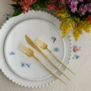 Buy Cutipol Goa Matte Gold, Ivory Handle -Dinner Fork, Knife, Dessert Fork - Orpheu Decor