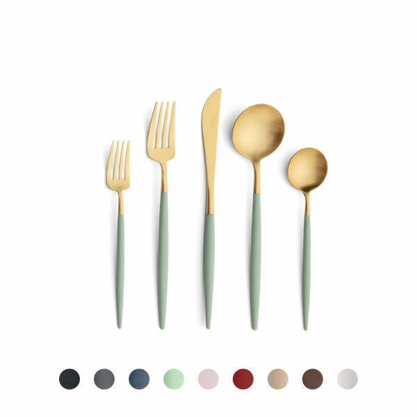 Buy Cutipol Goa Cutlery Set Matte Gold, 5 Pieces - Orpheu Decor