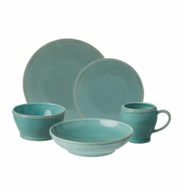 Buy Casafina Fontana Place Setting, 5 Pieces, Turquoise - Orpheu Decor