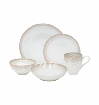 Buy Casafina Taormina Place Setting, 5 Pieces, White - Orpheu Decor