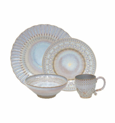 Buy Costa Nova Cristal Nacar Place Setting, 4 Pieces - Orpheu Decor