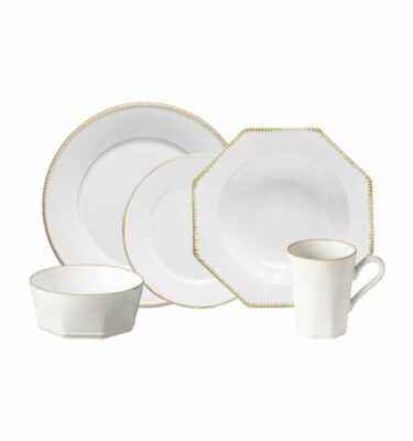 Buy Costa Nova Luzia Place Setting, 5 Pieces, White - Orpheu Decor