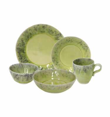 Buy Costa Nova Madeira Place Setting, 5 Pieces, Green - Orpheu Decor