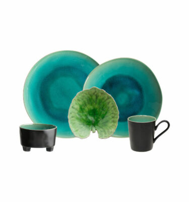 Buy Costa Nova Riviera Leaf Place Setting, 5 Pieces, Alchemille Leaf - Orpheu Decor