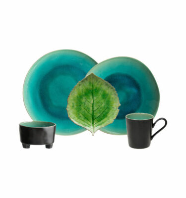 Buy Costa Nova Riviera Leaf Place Setting, 5 Pieces, Hydrangea Leaf - Orpheu Decor