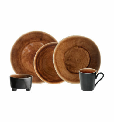 Buy Costa Nova Riviera Place Setting, 5 Pieces, Brown - Orpheu Decor