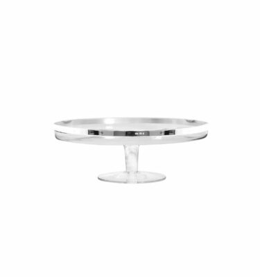 Plain Cake Stand, Silver Plated by Topázio? Buy at Orpheu Decor!